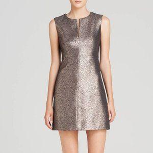 Diane Von Furstenberg Yvette Metallic Dress 0